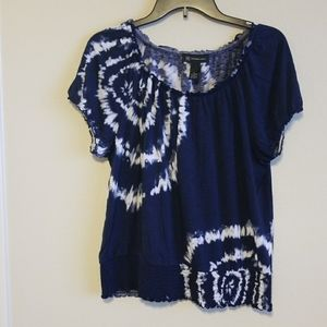 INC international concepts xl blue and white top
